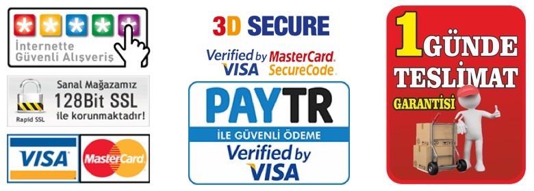 Güvenli satın alma 3D ve Kredi kartı ile ödeme